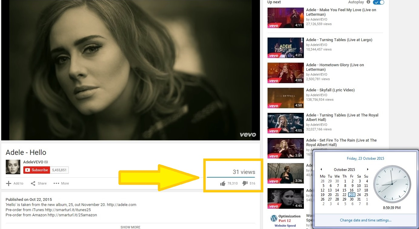Adele-youtube-views-stuck