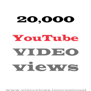 Buy YouTube views 20,000
