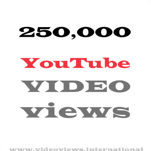 Buy YouTube views 250,000