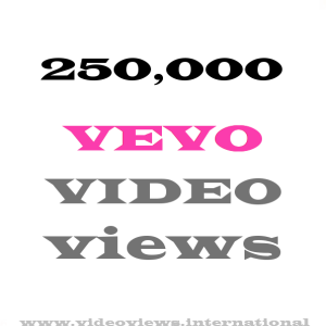 Buy 250K Vevo views