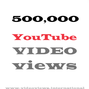 Buy YouTube views 500,000