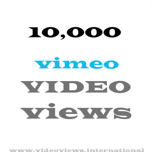buy 10k vimeo views