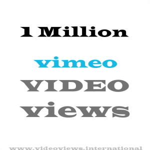 Buy 1 million vimeo views