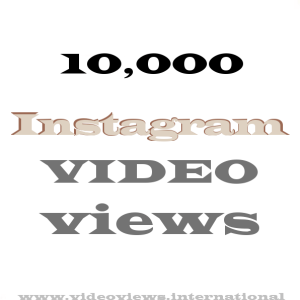 Buy Instagram video views 10k