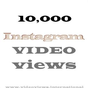 Buy Instagram video views 10k