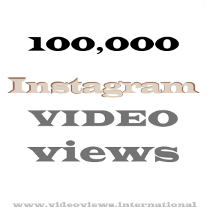 Buy Instagram video views 100k