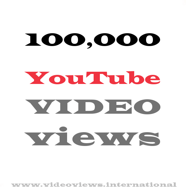 Buy YouTube views 100,000
