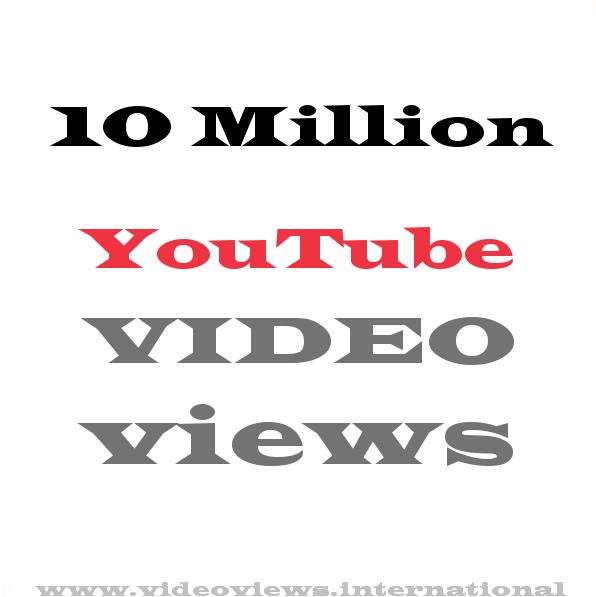 Buy YouTube views 10 Million
