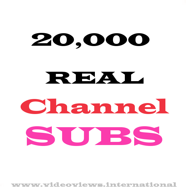 20k youtube subscribers