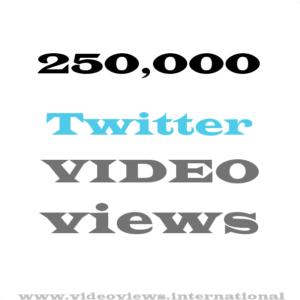 Buy 250k twitter video views